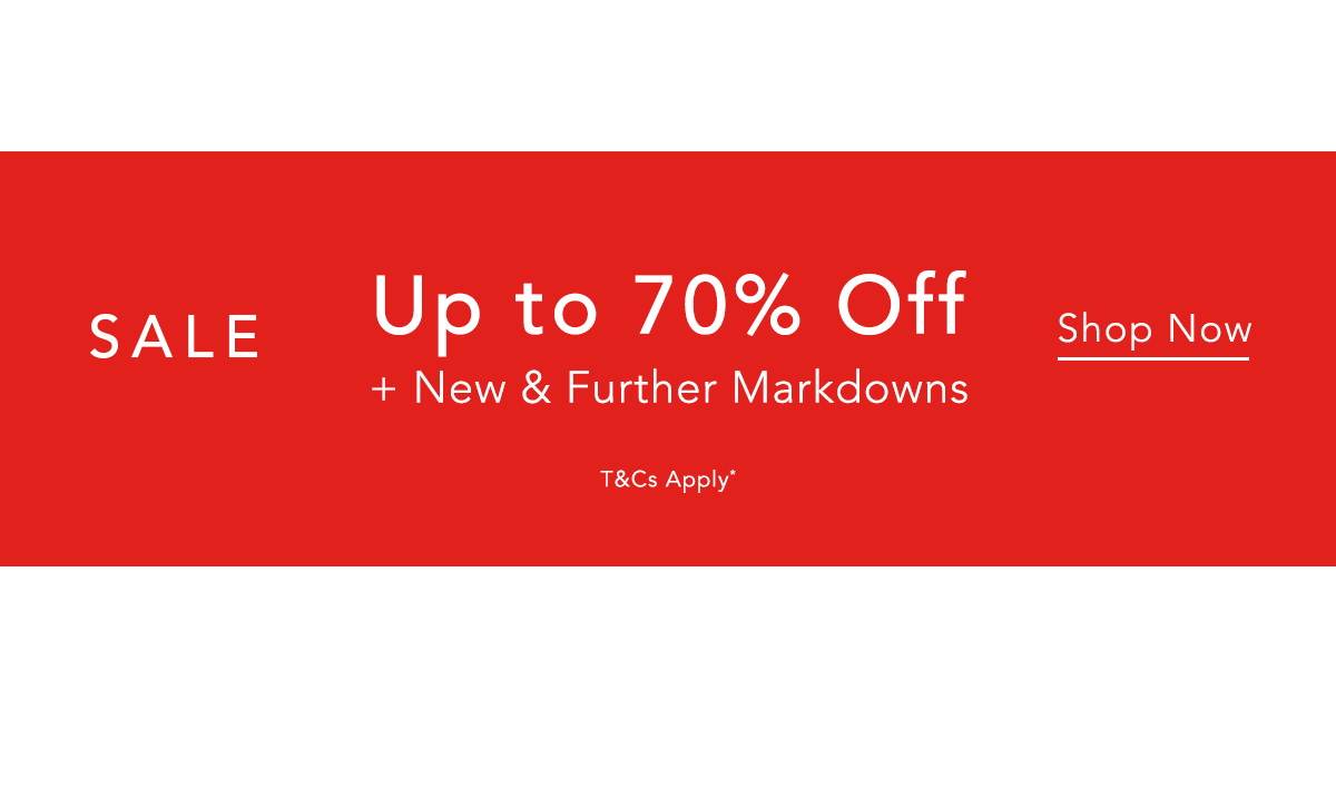 Sale Continues - Further Markdowns Now Up To 60% Off - Shop Now.