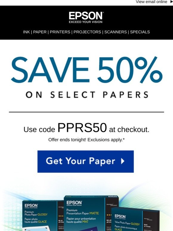 Epson: Free 2-Day Shipping, No Minimum! | Milled