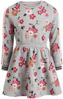 Toddler Girls Floral-Print Sweatshirt Dress
