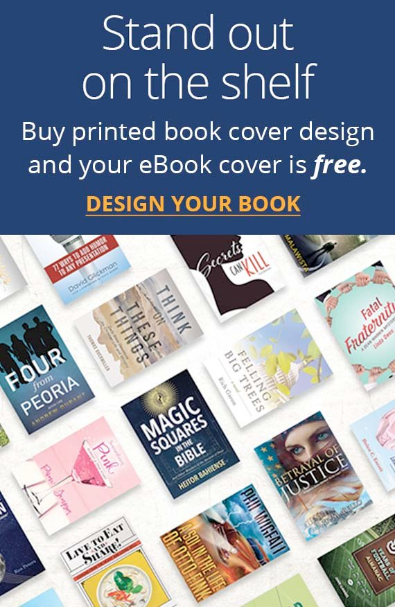 Stand out on the shelf. Buy printed book cover design and your eBook cover is free.