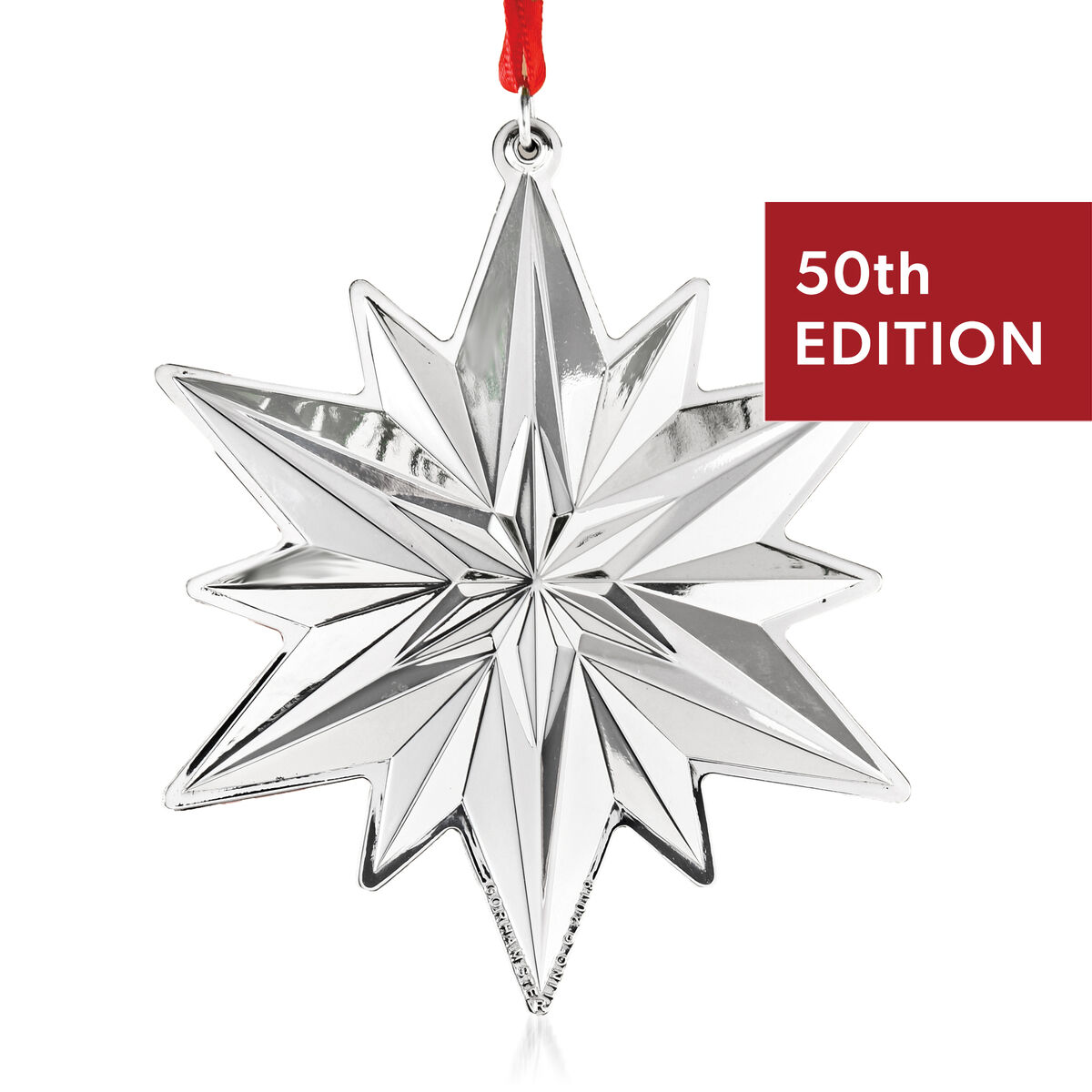 Gorham 2019 Annual Sterling Silver Snowflake Ornament - 50th Edition