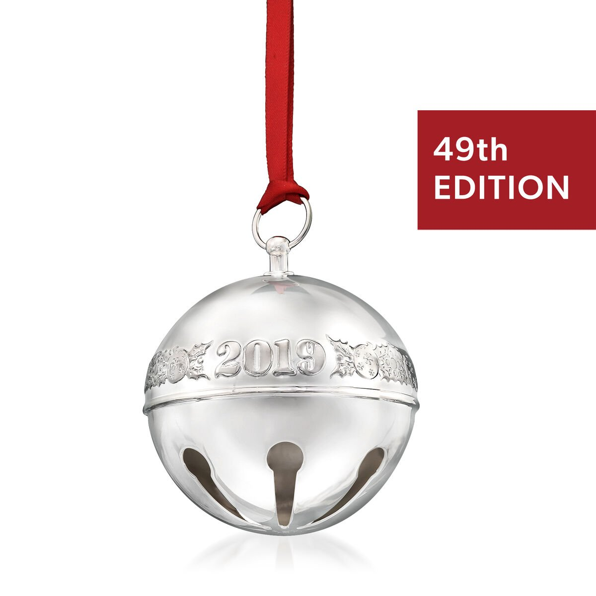Wallace 2019 Annual Silver Plate Sleigh Bell Ornament - 49th Edition
