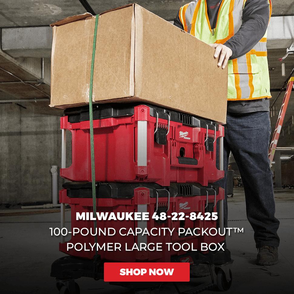 Milwaukee 48-22-8425 100-Pound Capacity Polymer Packout Large Tool Box