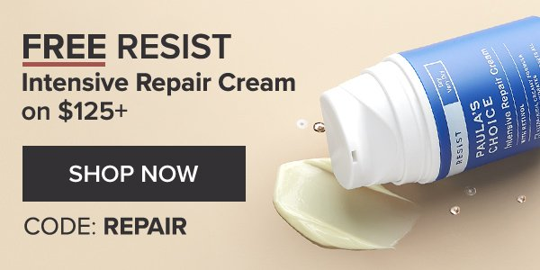 FREE RESIST REPAIR CREAM ON $125