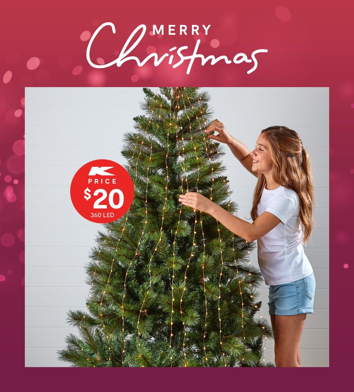 Kmart Australia Light Up Your Christmas Milled