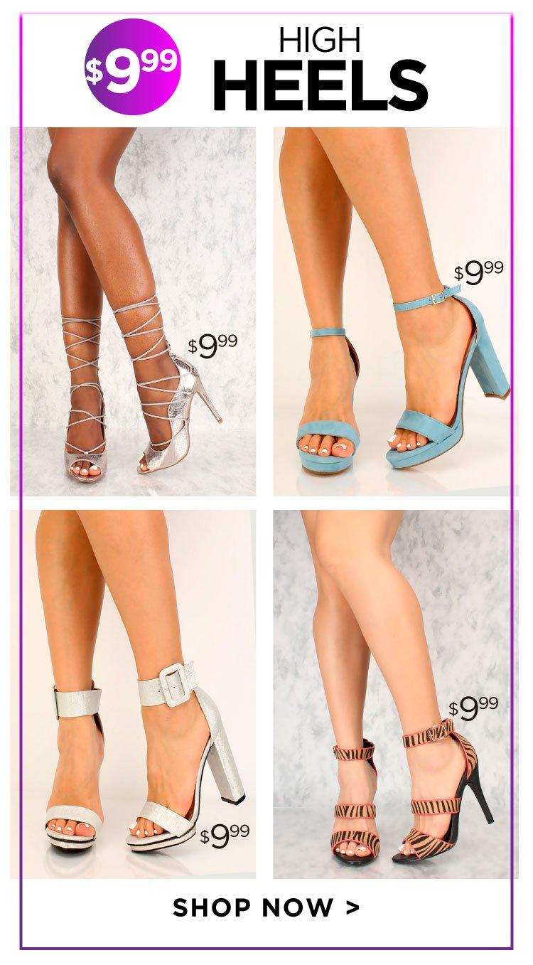 Shop Heels Under $9.99