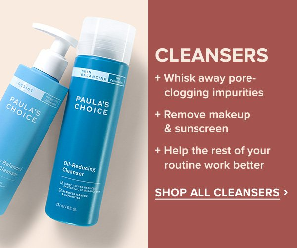SHOP ALL CLEANSER >