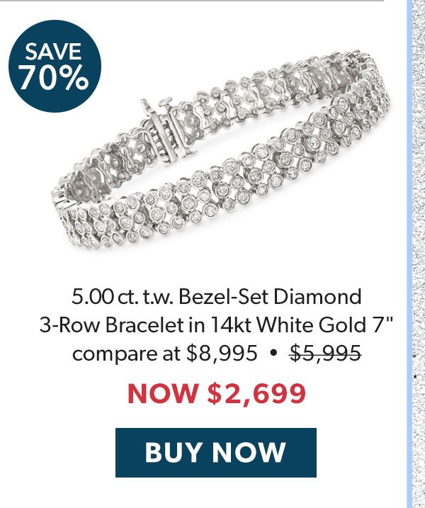Diamond Bezel-Set Bracelet. Buy Now