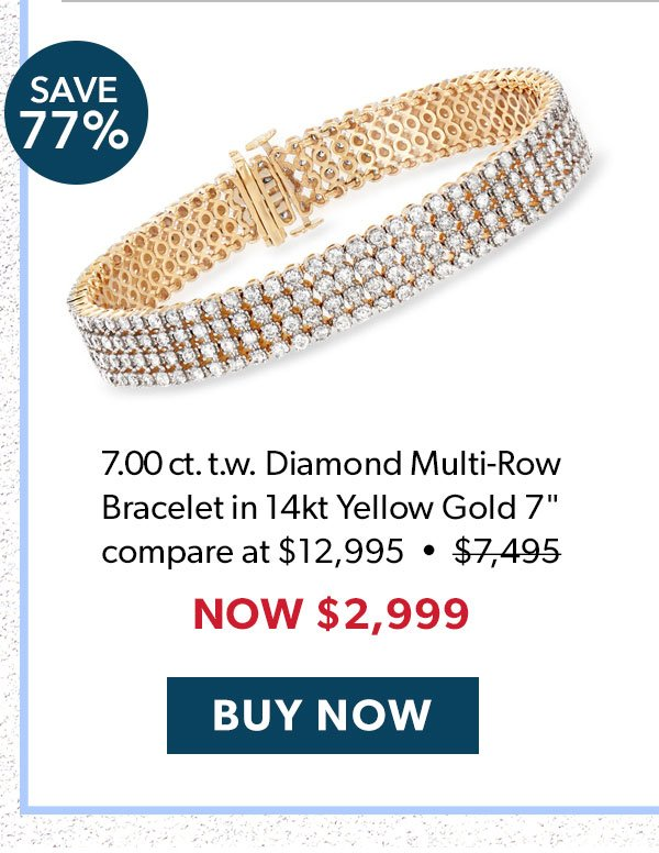 Diamond Multi-Row Bracelet. Buy Now