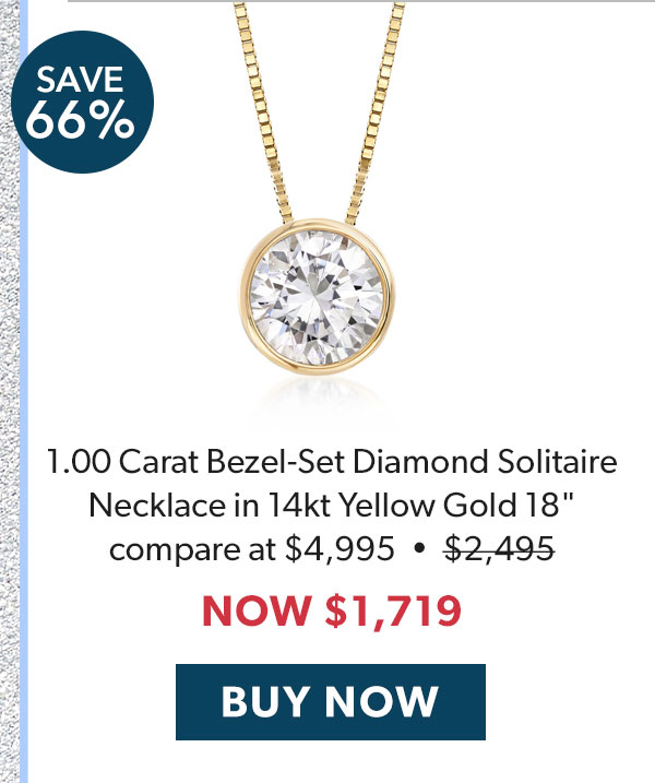 Diamond Solitaire Necklace. Buy Now