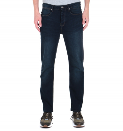 Luke 1977 Freddie Slim Straight Fit Blue Black Stretch Denim Jeans