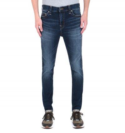 True Religion Jack Skinny Tapered Fit No Flap Indigo Denim Jeans