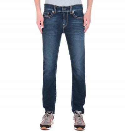 True Religion Rocco No Flap Relaxed Skinny Fit Super T Dark Blue Wash Denim Jeans