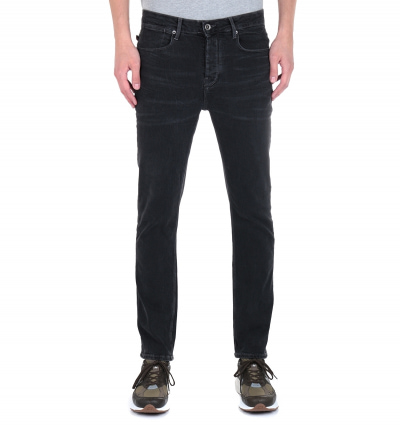 Luke 1977 Freddie Slim Straight Fit Grey Stretch Denim Jeans