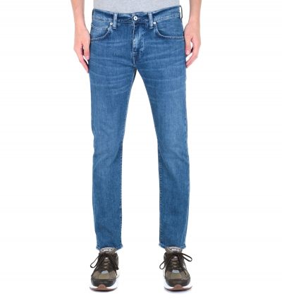 Edwin ED-55 CS Braxton Blue Denim Regular Tapered Eastside Wash Jeans