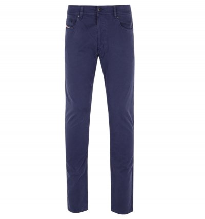 Diesel Tepphar Navy Washed Slim-Carrot Fit Chinos