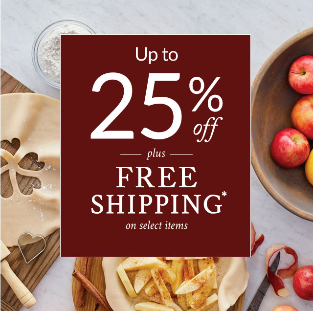 Up to 25% Off -plus- Free Shipping