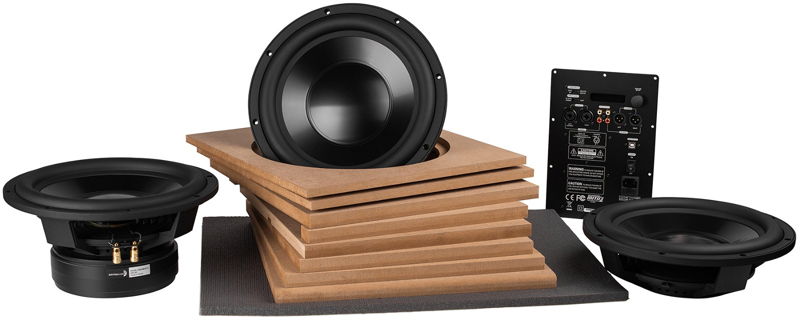 Powered DA Reference 12-in Subwoofer Kit with Dual Passive Radiators & 500 Watt DSP Plate Amp