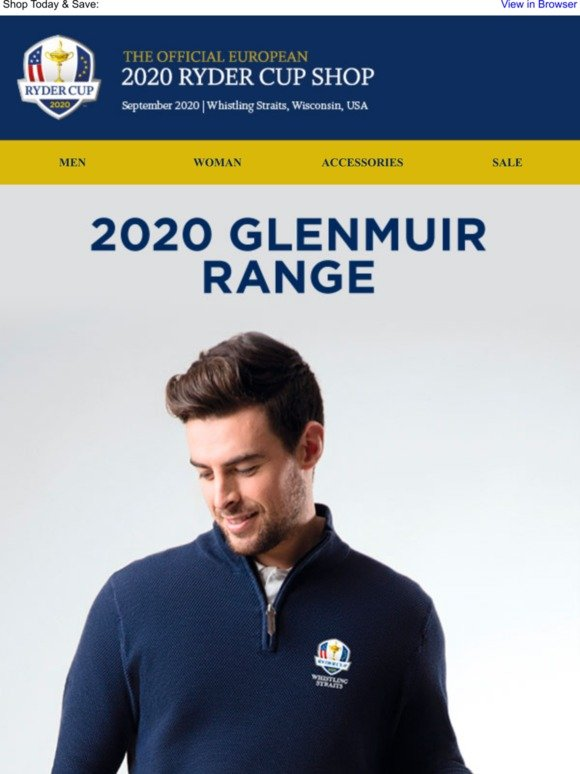 2020 Usa Ryder Cup Apparel.Ryder Cup Shop 2020 Glenmuir Check It Out Milled