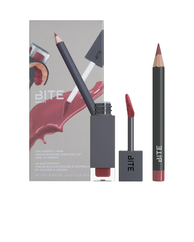 The Perfect Pair - Mini Amuse Bouche Liquified Lipstick and Mini Lip Pencil (Red)