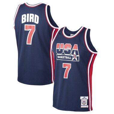 Mitchell & Ness Larry Bird USA Basketball Navy Home 1992 Dream Team Authentic Jersey
