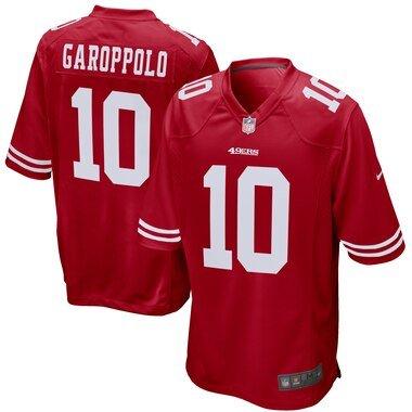 Nike Jimmy Garoppolo San Francisco 49ers Scarlet Game Jersey