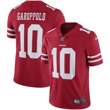 Nike Jimmy Garoppolo San Francisco 49ers Scarlet 100th Season Vapor Limited Jersey