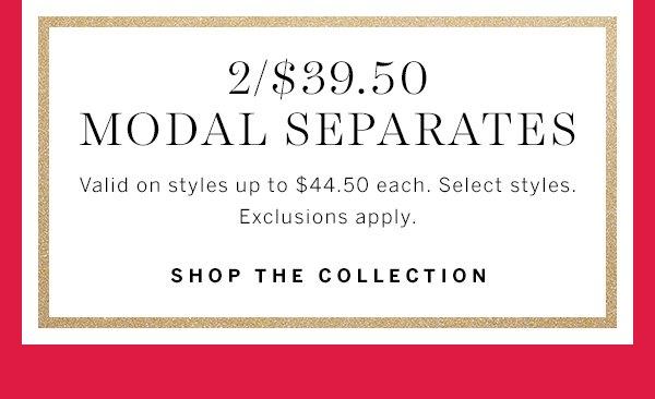 2/$39.50 Modal