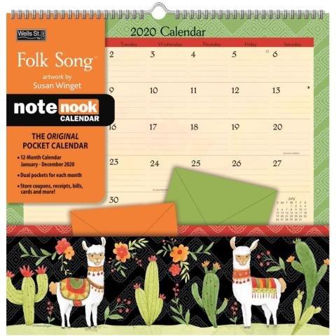 Folk Song Pocket Wall Calendar