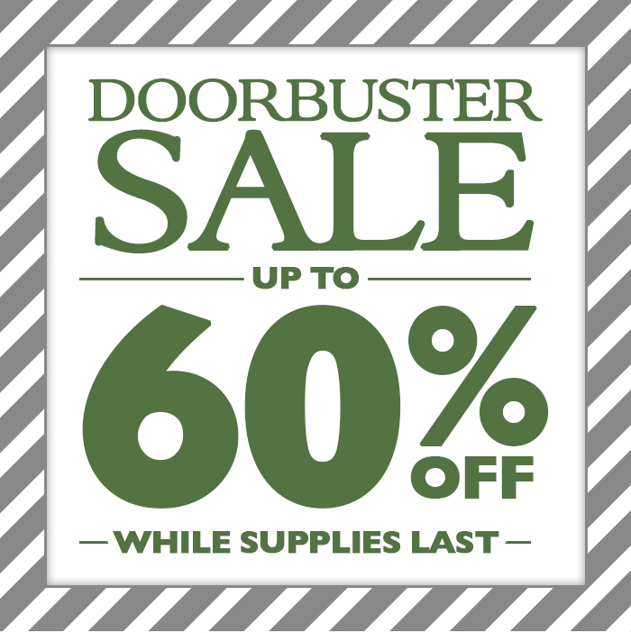 Park's Doorbuster Sale - Save Up To 60% While Supplies Last