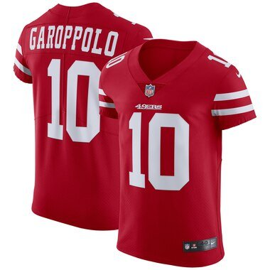 Nike Jimmy Garoppolo San Francisco 49ers Scarlet Alternate Vapor Untouchable Elite Jersey