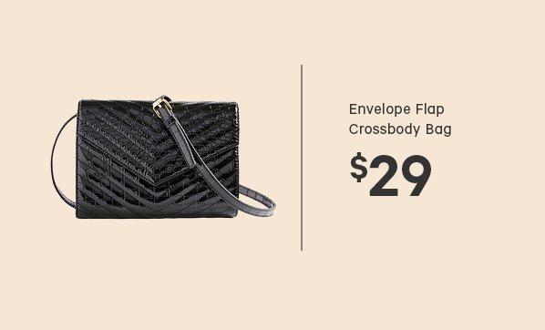 Envelope Flap Crossbody Bag $29