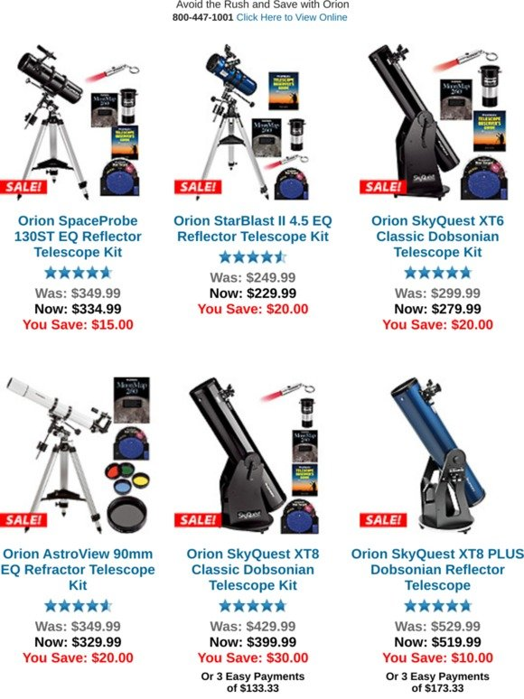 Orion Telescopes Uk Save On Early Bird Deals Milled