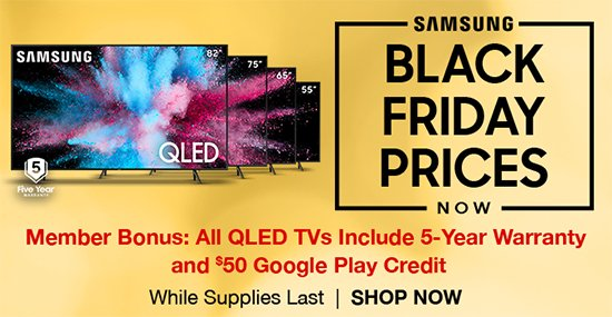 Samsung Black Friday Prices Now. Shop Now