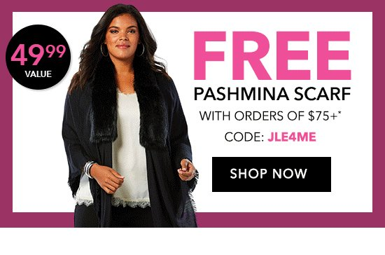 Free Pashmina Scarf with Orders of $75+