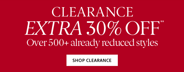 Extra 30% Off   Shop Clearance