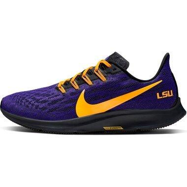 LSU Tigers Nike Air Zoom Pegasus 36 Running Shoes - Purple/Gold