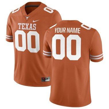 Texas Longhorns Nike Football Custom Game Jersey - Texas Orange