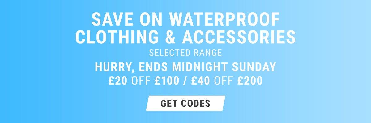 Save on Waterproof clothing