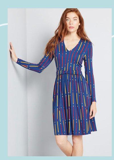 Hidden treasure knit dress