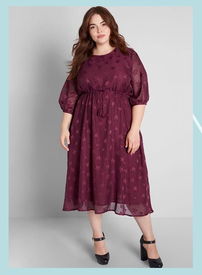 Wish upon dress in red