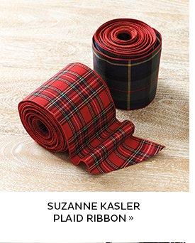 Suzanne Kasler Plaid Ribbon