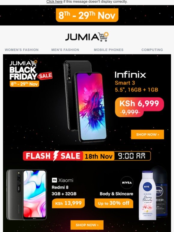Jumia Kenya Black Friday Deal Infinix Smart 3 16gb Ksh 6 999 Only Milled