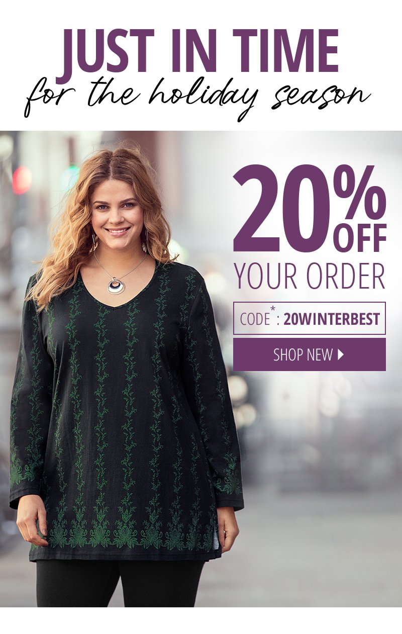 20% off your order - shop new