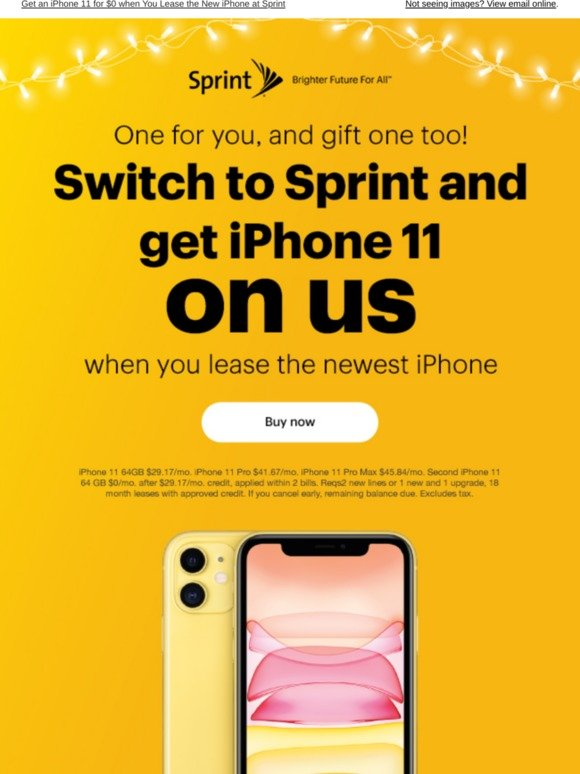 Sprint Get An Iphone 11 Under Your Tree For 0 Milled