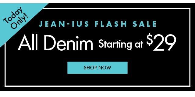 All Denim Starting at $29 MG