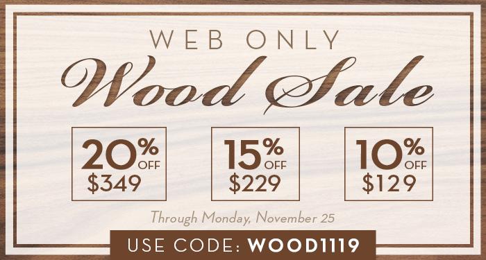 Wood Sale!