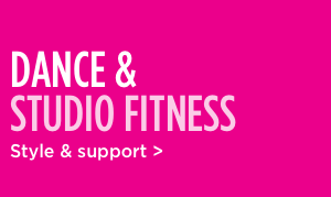 Shop dance and studio fitness style and support