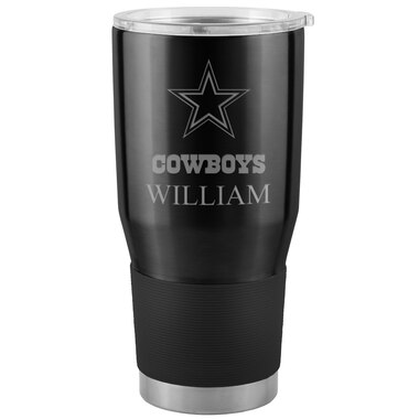 Dallas Cowboys Personalized 30oz. Ultra Tumbler - Black