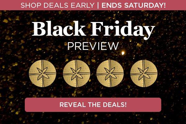 Shop Deals Early! Ends Saturday. Click to Reveal Deals.